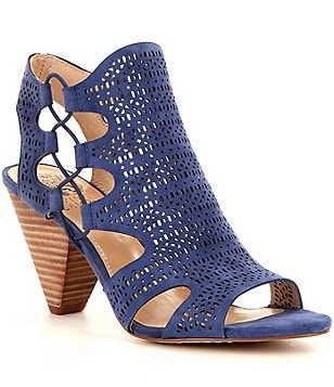 Vince Camuto Eadon Lasercut Side Cutout Peep-Toe Booties