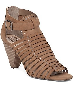 Vince Camuto Eisen Huarache Caged Ankle Strap Dress Sandals