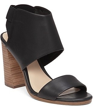 Vince Camuto Keisha Leather Hooded Block-Heel Sandals