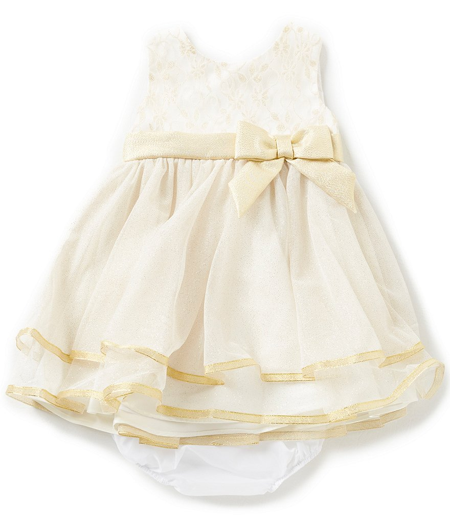 Rare Editions Baby Girls 3-24 Months Metallic-Bodice Ballerina-Skirted Dress
