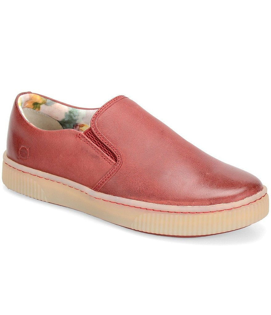 Born Richie Red Slip-On Sneakers