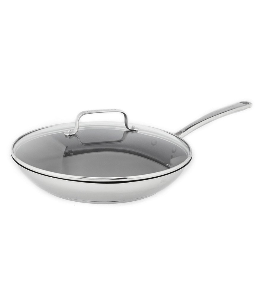 KitchenAid Stainless Steel Nonstick Skillet with Glass Lid