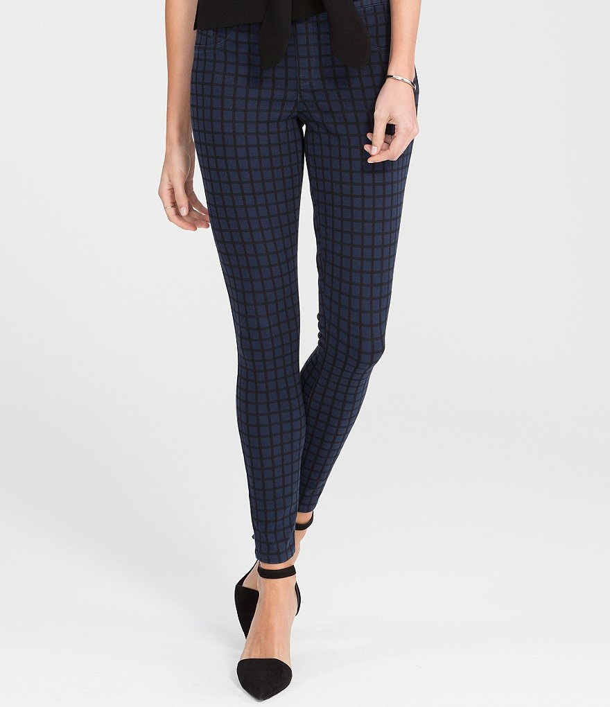 Spanx Jean-Ish Checked Shaping Leggings