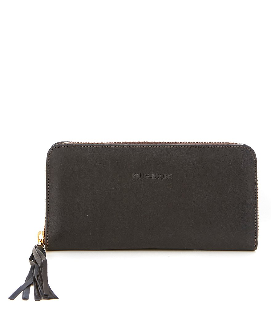 Kelly-Tooke Waterproof Leather Large Zip Wallet