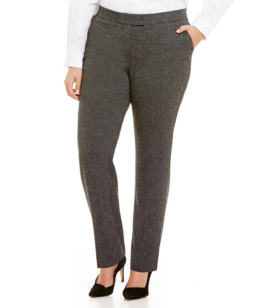 Investments Plus 5TH AVE fit Modern Straight-Pant
