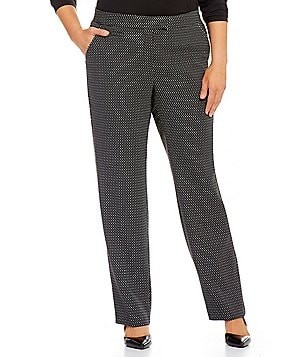 Investments Plus 5TH AVE fit Modern Straight Leg Pants
