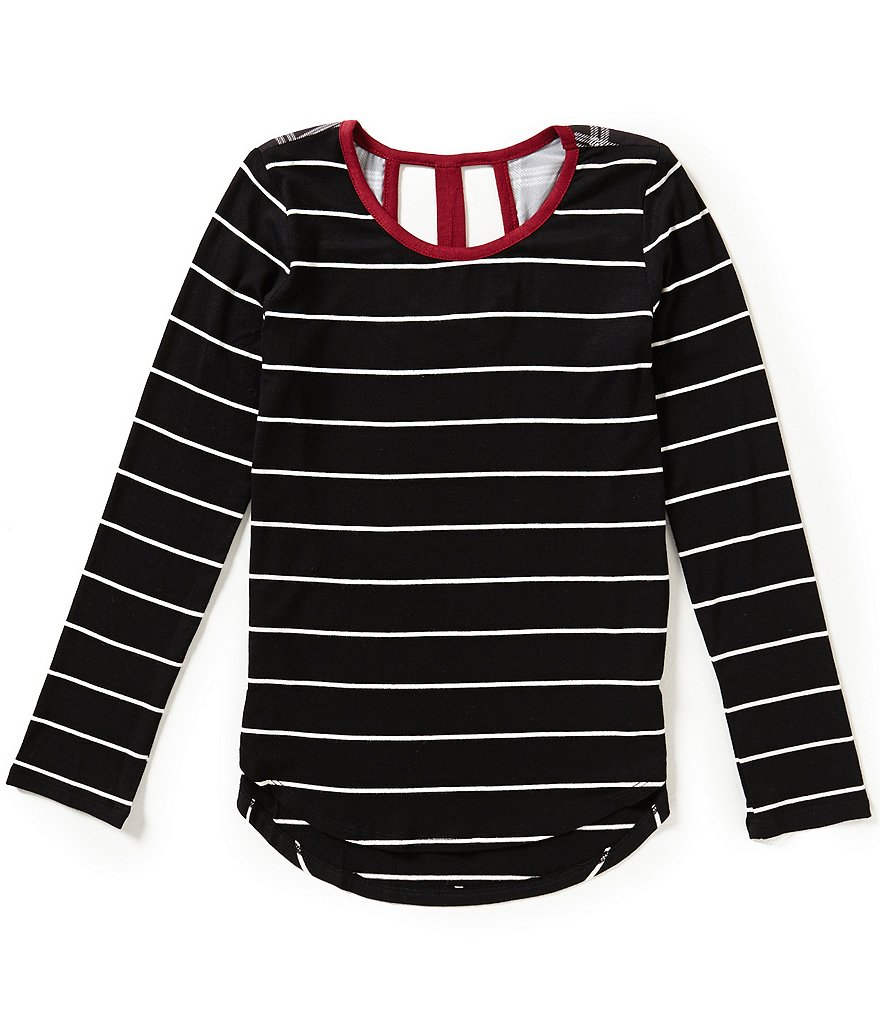 Copper Key Big Girls 7-16 Striped High-Low Tunic Top
