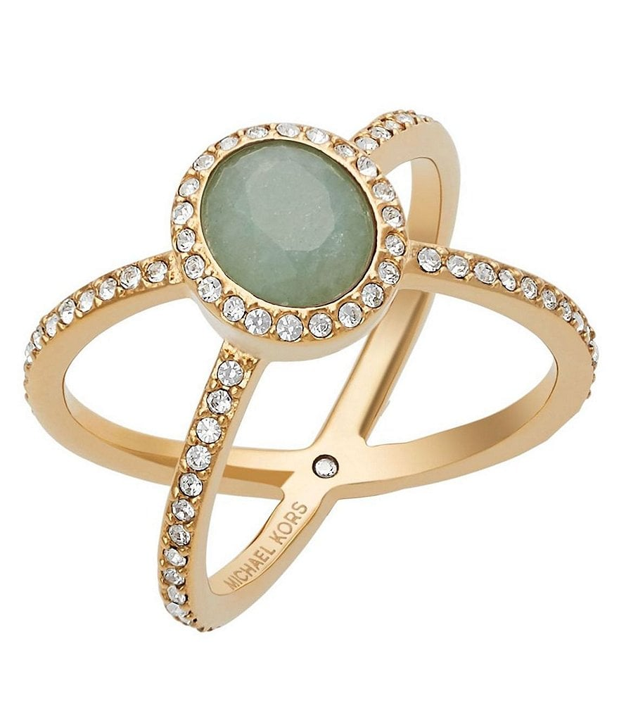 Michael Kors Jade Crisscross Cocktail Ring