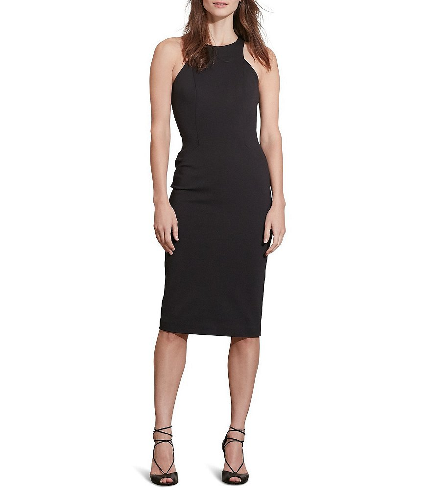 Lauren Ralph Lauren Jersey A-Line Sleeveless Cutout Dress