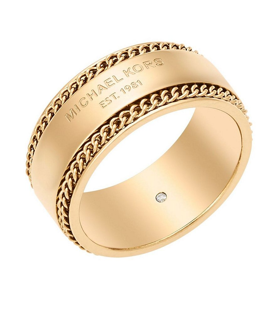 Michael Kors Curb-Link Chain Band Ring