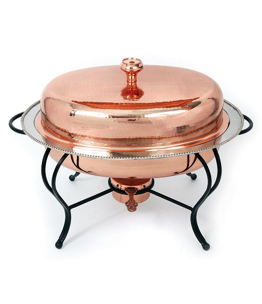 Star Home Designs Oval Copper Chafing Dish