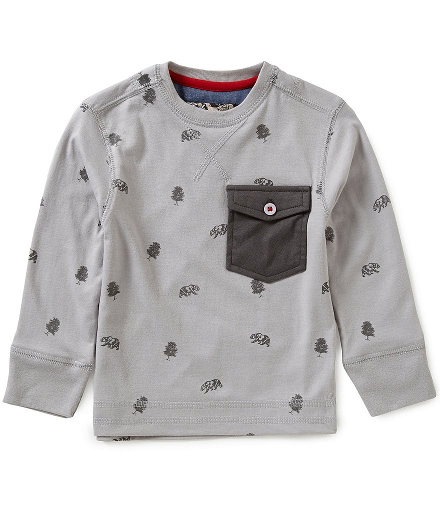 First Wave Little Boys 2T-7 All Over Print Crew Neck Tee