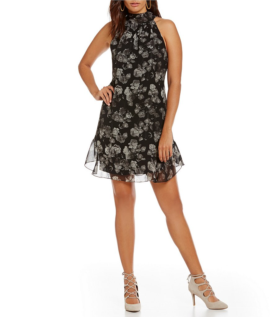 M.S.S.P. Tie Back Floral Flounce Dress