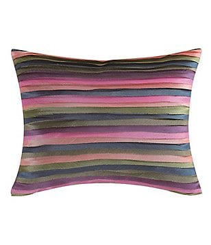 Poetic Wanderlust by Tracy Porter Mathilde Embroidered Faux-Silk Oblong Pillow
