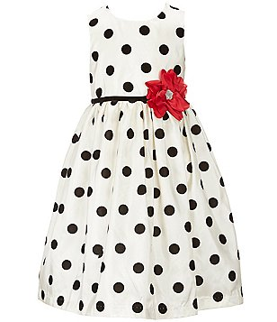 Marmellata Little Girls 2T-6X Dotted-Floral Dress