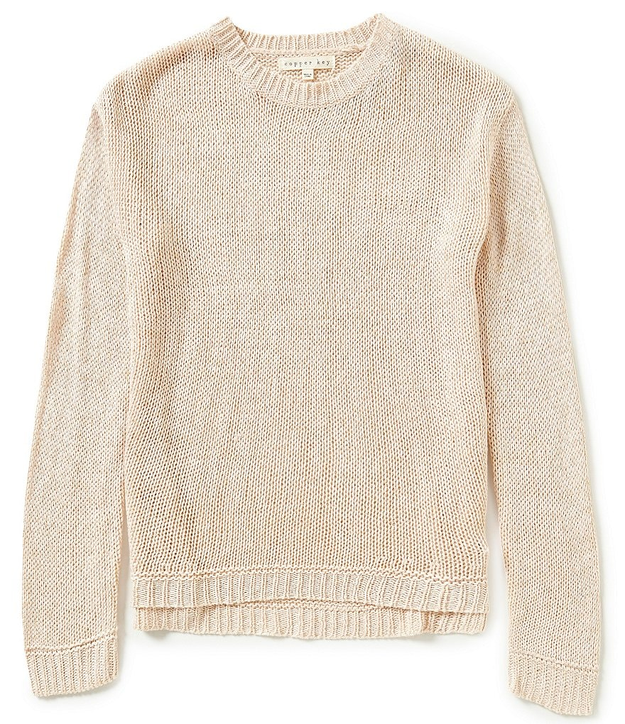 Copper Key Big Girls 7-16 Metallic Pullover Sweater