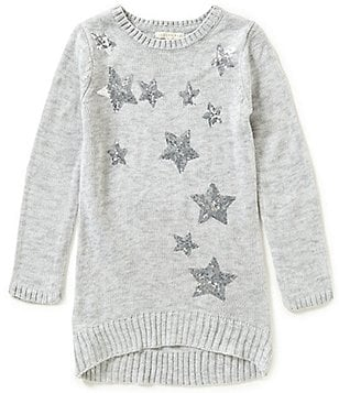 Copper Key Big Girls 7-16 High-Low Sequin Sweater
