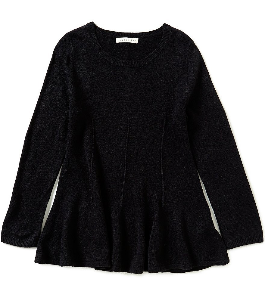 Copper Key Big Girls 7-16 Peplum Sweater
