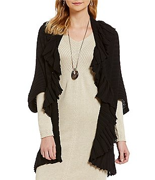 M.S.S.P. Ruffled Cocoon Cardigan
