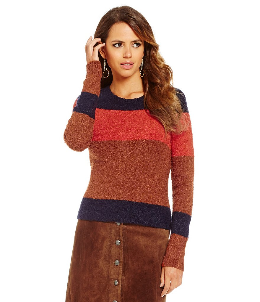 Gianni Bini Tina Colorblock Long Sleeve Knit Top