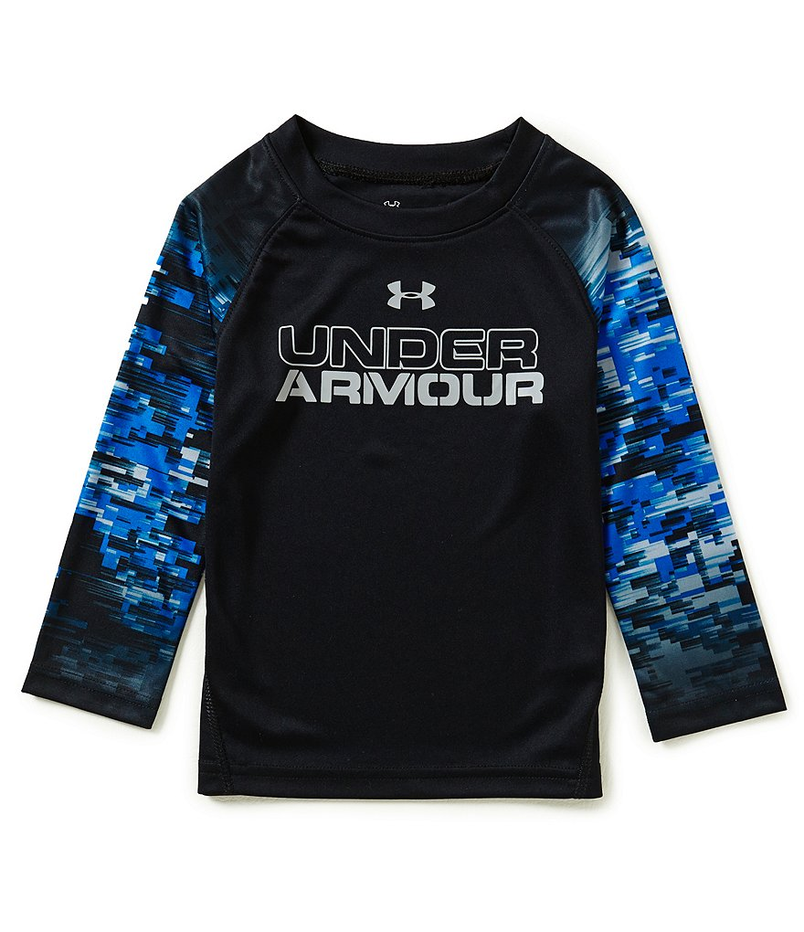 Under Armour Little Boys 2T-7 Digiblur Long-Sleeve Raglan Tee