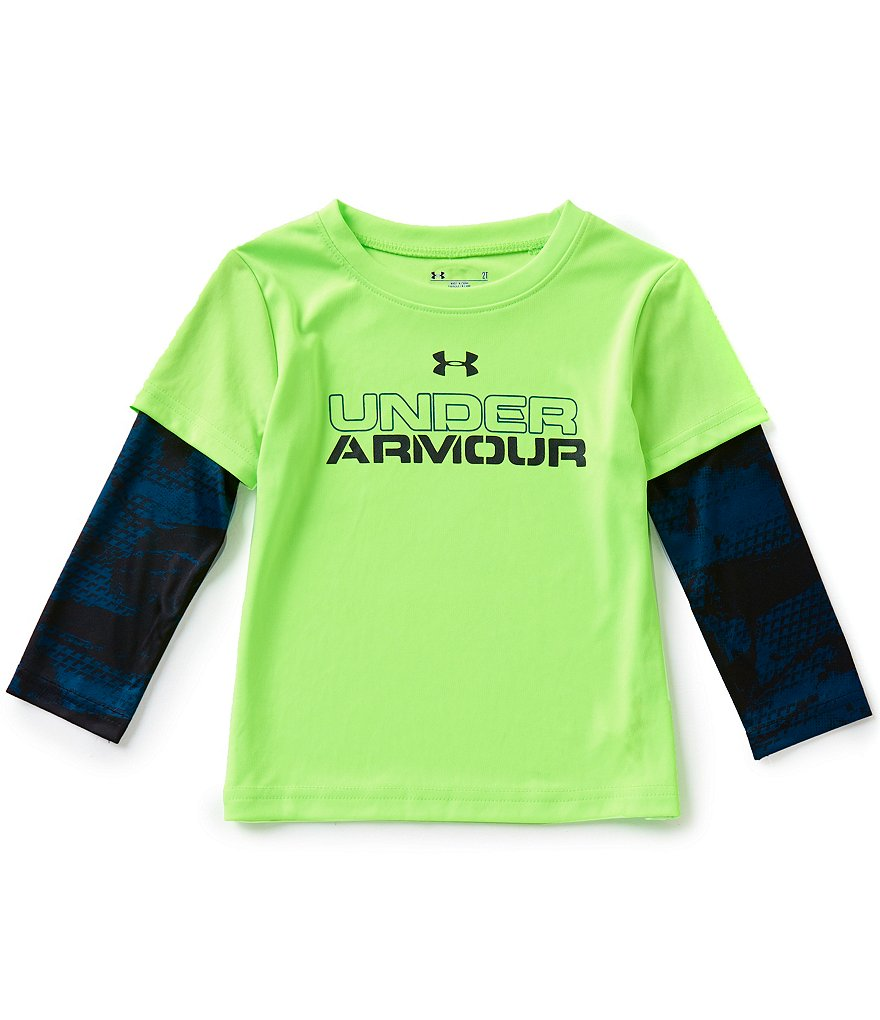 Under Armour Little Boys 2T-7 Cracked Slider Tee