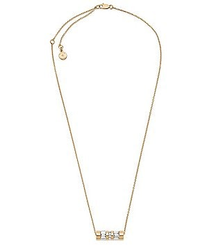 Michael Kors Barrel Pendant Necklace