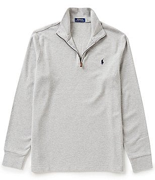 Polo Ralph Lauren Double-Knit Jacquard Quarter-Zip Pullover