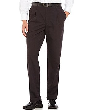 Roundtree & Yorke Ultimate Comfort Classic-Fit Pleated Wool Blend Dress Pants