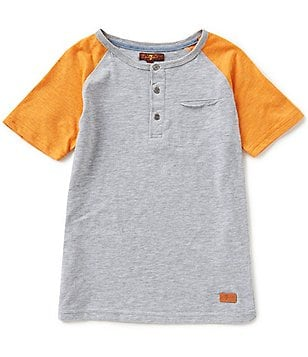 7 For All Mankind Big Boys 8-20 Color Block Henley Tee