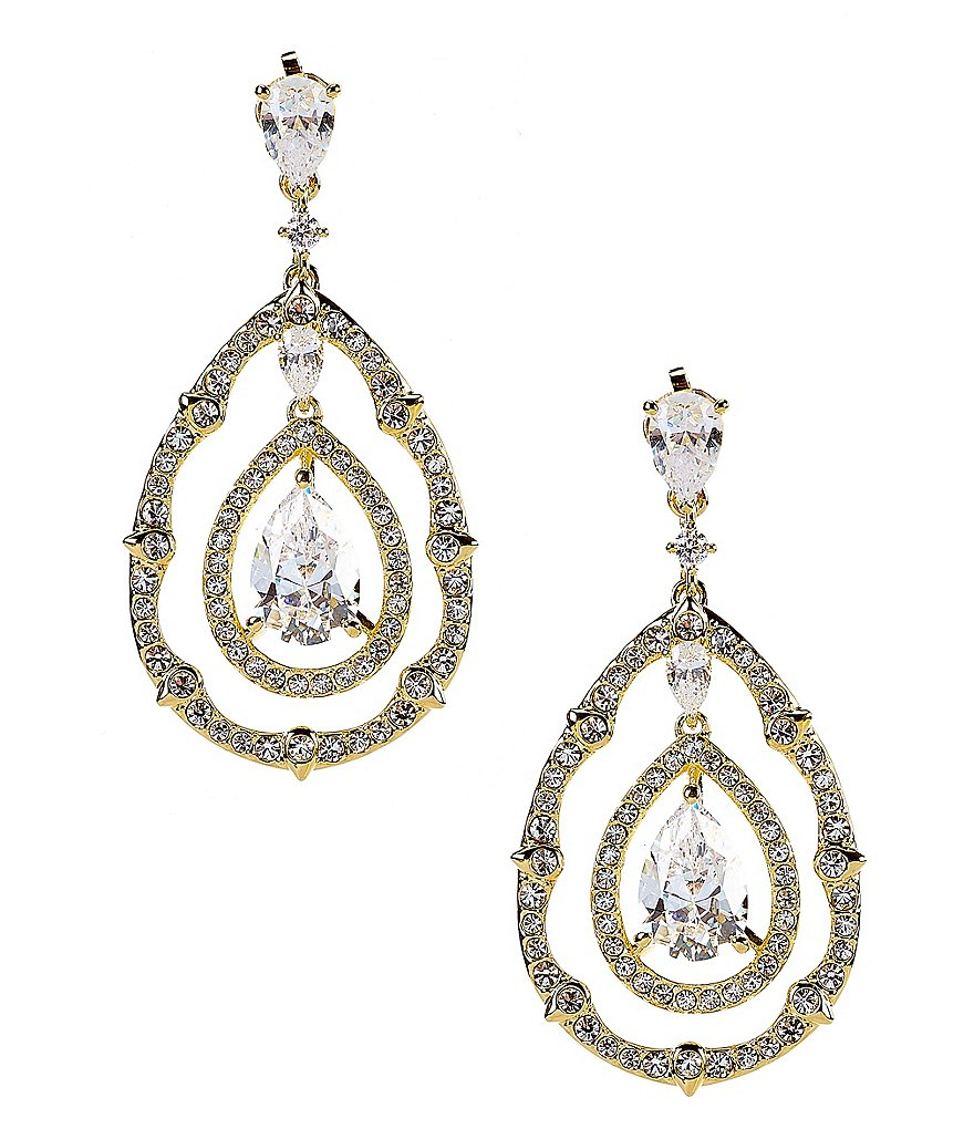 Nadri Victoria Cubic Zirconia Drop Earrings