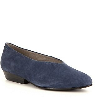 Eileen Fisher Sabin Tumbled Nubuck Leather Slip-On Flats