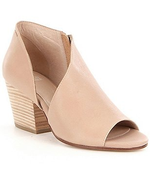 Eileen Fisher Drake Cut Out Detail Peep Toe Pumps