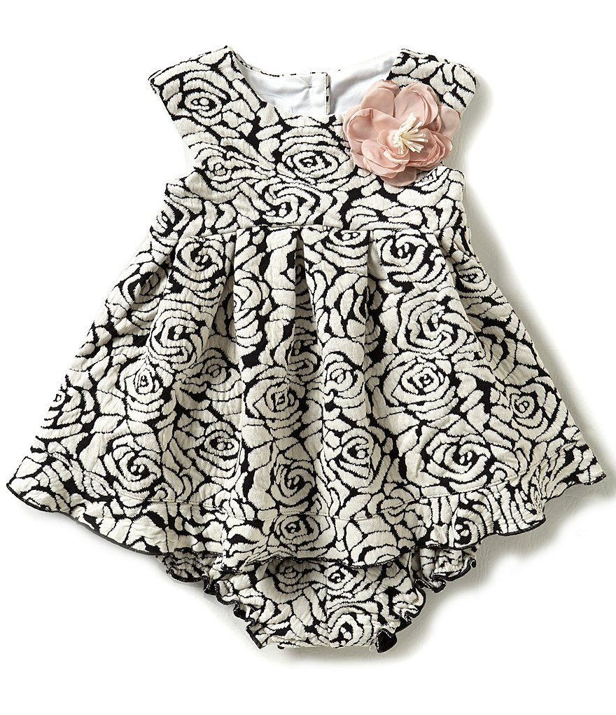 Pippa & Julie Baby Girls 12-24 Months Floral-Printed Knit Dress