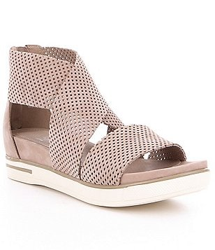 Eileen Fisher Sport 2 Perforated Criss-Cross Banded Sandals