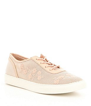 Antonio Melani Germina Mesh & Leather Embroidered Lace-Up Sneakers
