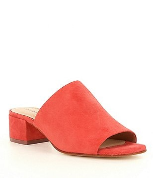 Antonio Melani Junni Peep Toe Slip-On Block Heel Dress Mules
