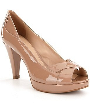 Antonio Melani Breese Patent Leather Peep-Toe Platform Pumps