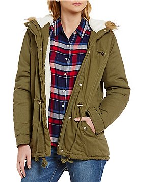 GB Hooded Faux-Fur Anorak Jacket