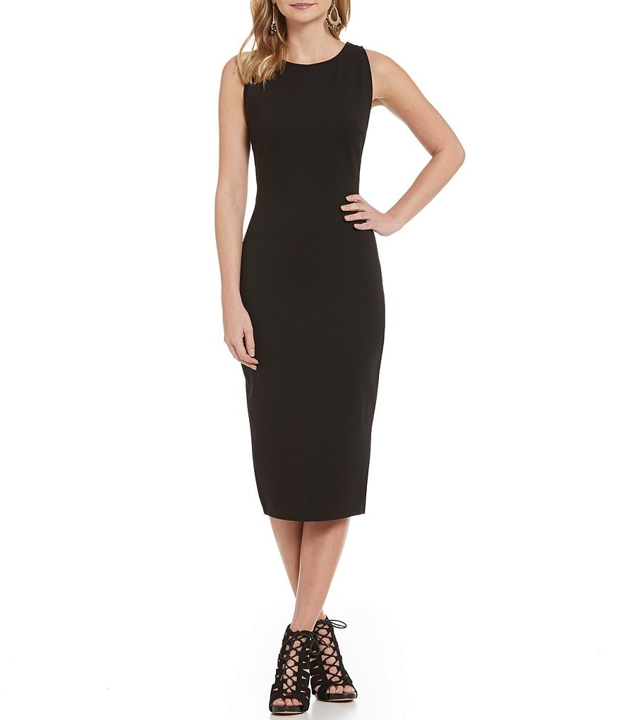 GB Midi Side Cutout Bodycon Dress