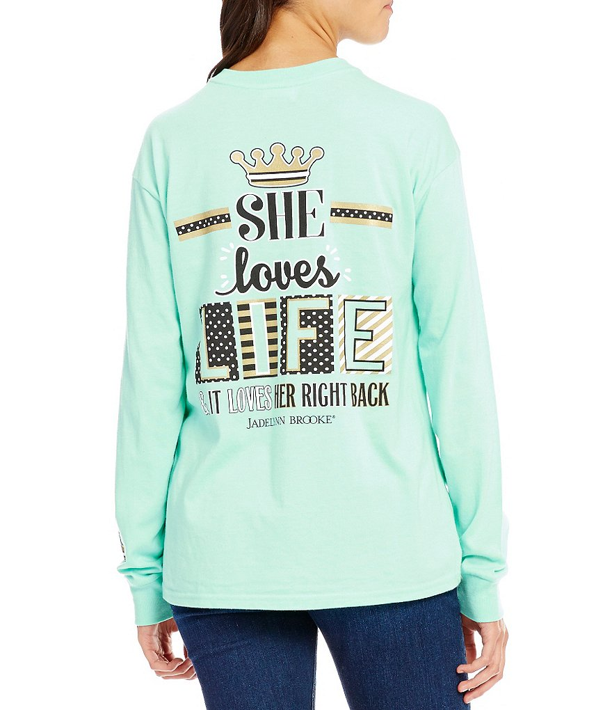Jadelynn Brooke She Loves Life Long-Sleeve Graphic Tee