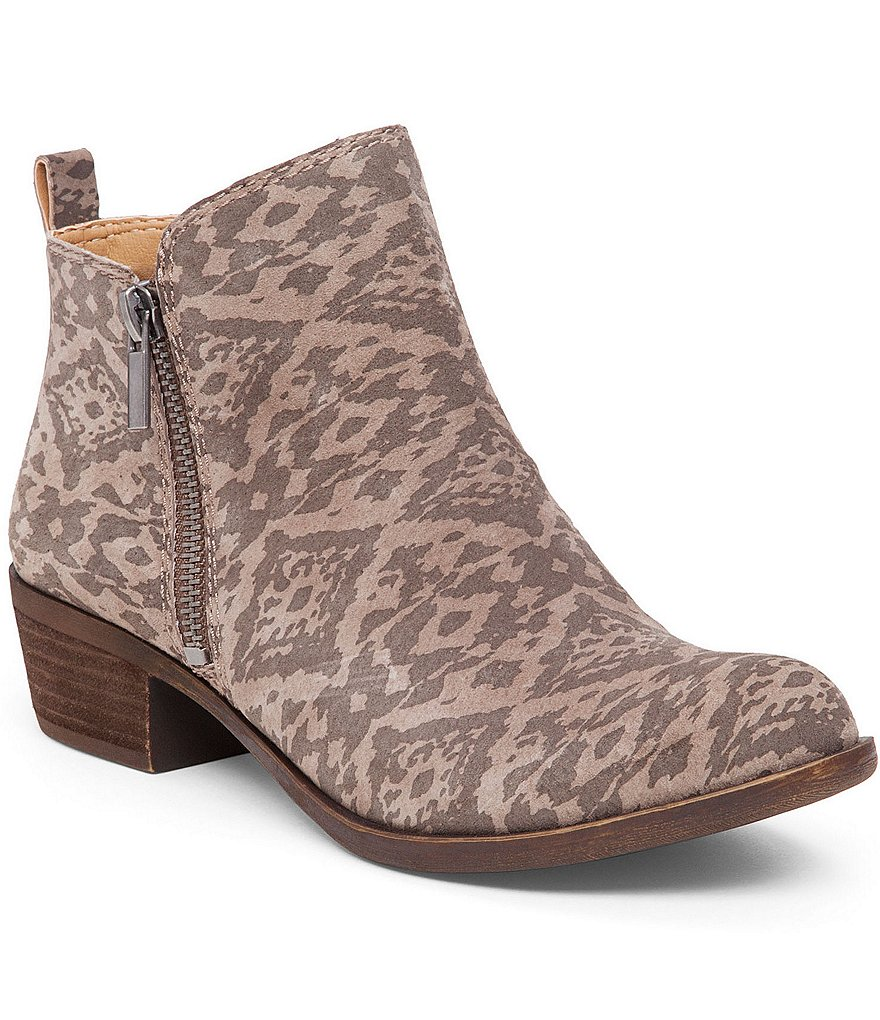 Lucky Brand Basel Side Zip Patterned Booties