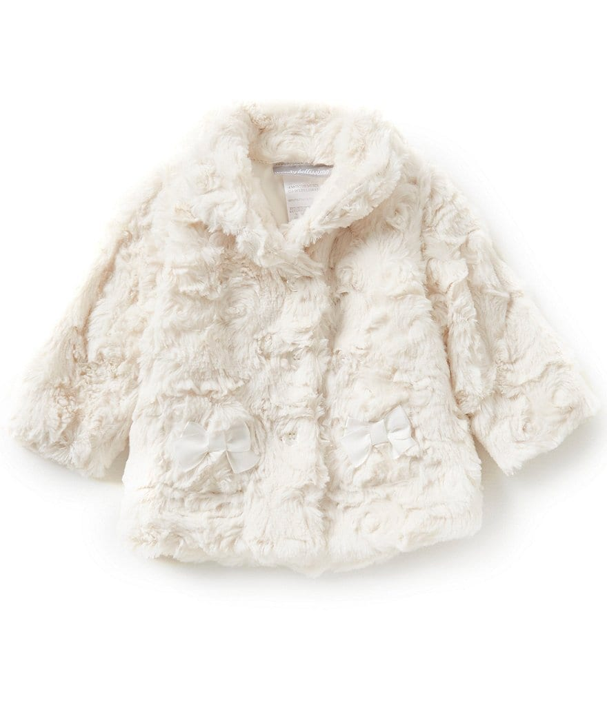 Wendy Bellissimo Baby Girls 3-24 Months Faux-Fur Jacket