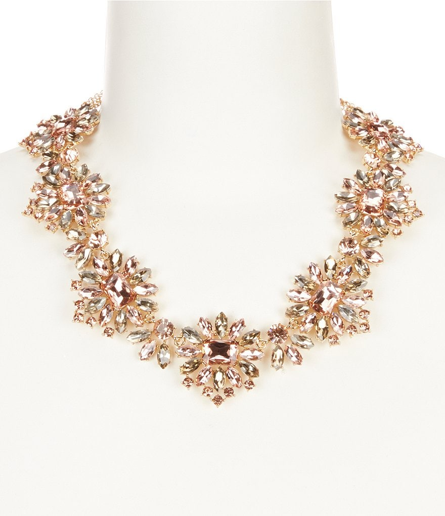 Gemma Layne Starbursts Rhinestone Statement Necklace