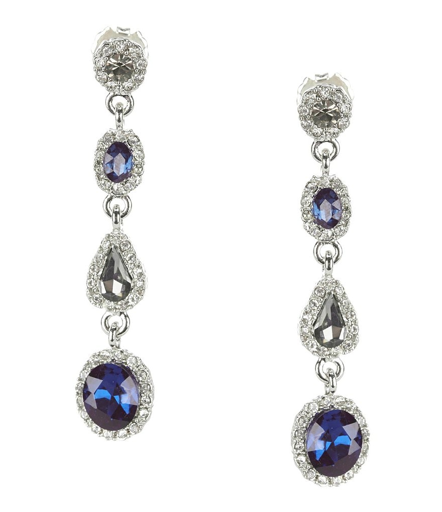 Gemma Layne Rhinestone Linear Drop Earrings