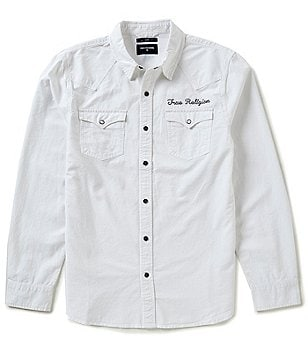 True Religion Triple Needle Western Shirt