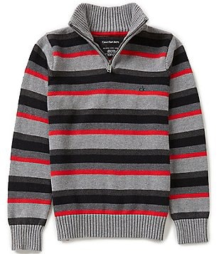 Calvin Klein Big Boys 8-20 Striped Pullover Sweater