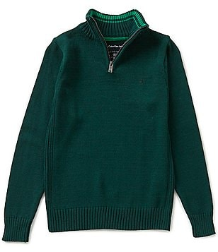Calvin Klein Big Boys 8-20 1/4-Zip Pullover Sweater