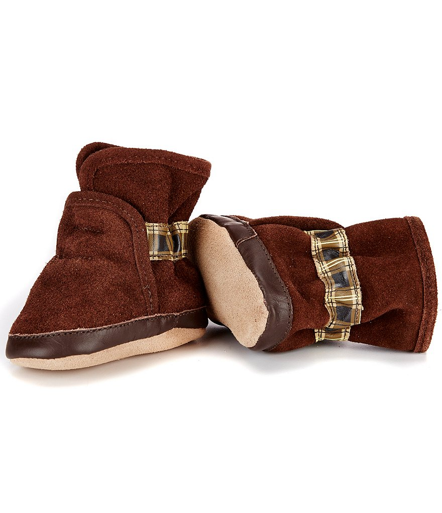 Robeez Baby Boys Cozy Ankle Soft Slip Booties