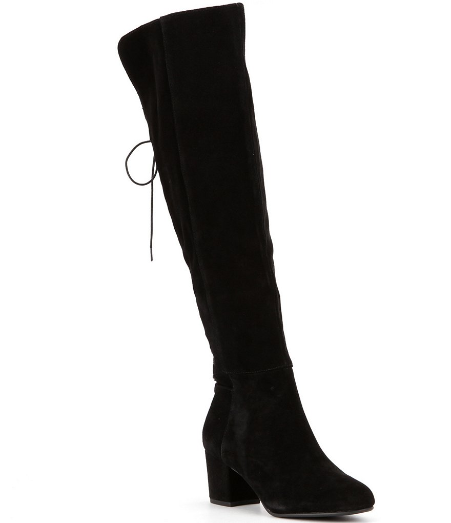 Steve Madden Hansil Suede Back Lace Up Boots